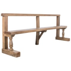 Antique French Oak Bench