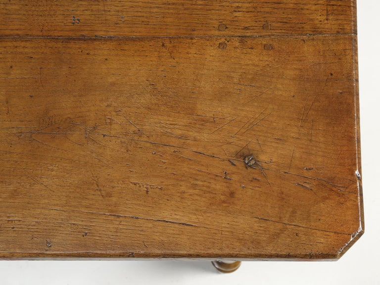 Antique French Oak Farm House Dining or Kitchen Table with Pass-Through Drawer For Sale 3