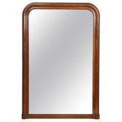 Antique French Oak Framed Mirror