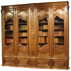 Antique French Oak Regence Style Bibliotheque, circa 1860