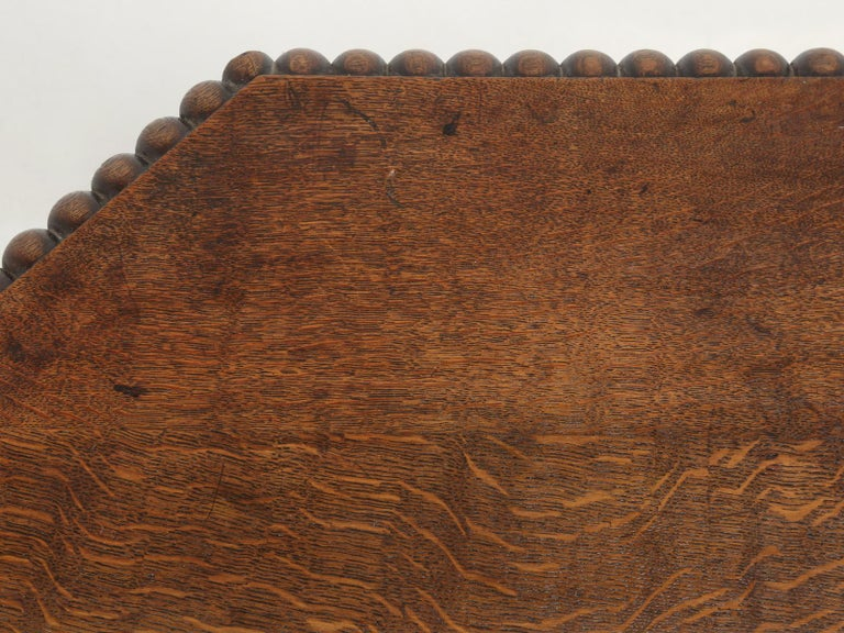 Early 20th Century Antique French Oak Side Table or End Table Completely Restored For Sale