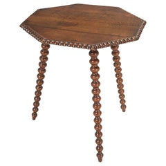 Antique French Oak Side Table or End Table Completely Restored