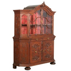 Antique French Oak Vitrine/Cabinet, circa 1890