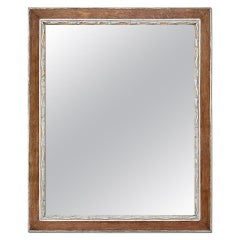 Antique French Oak Wood and Silvered Mirror, circa 1940