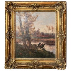 Antique French Oil on Canvas, 19th Century