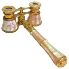 Antique French Opera Glasses with Removable Handle from Lemaire of Paris