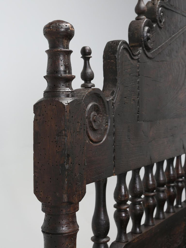 Antique French or Spanish Colonial Style Bed, Converted to a Queen Size Bed For Sale 4