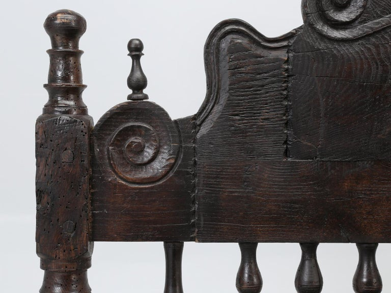 Antique French or Spanish Colonial Style Bed, Converted to a Queen Size Bed For Sale 5
