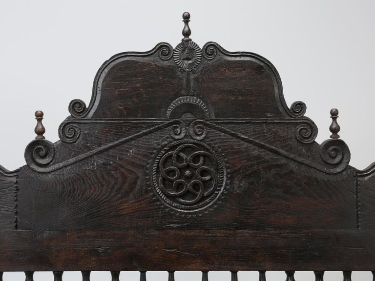 Early 18th Century Antique French or Spanish Colonial Style Bed, Converted to a Queen Size Bed For Sale
