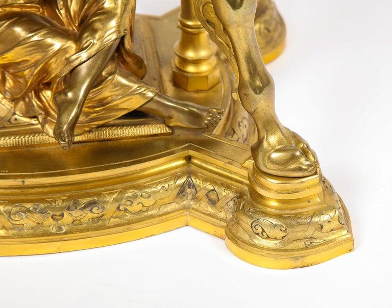 Antique French Orientalist/Moorish Silver/Gilt Bronze and Enamel Figural Clock For Sale 1