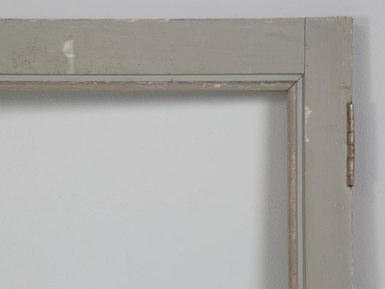Country Antique French Original Paint Glazed Door, circa 1900 For Sale