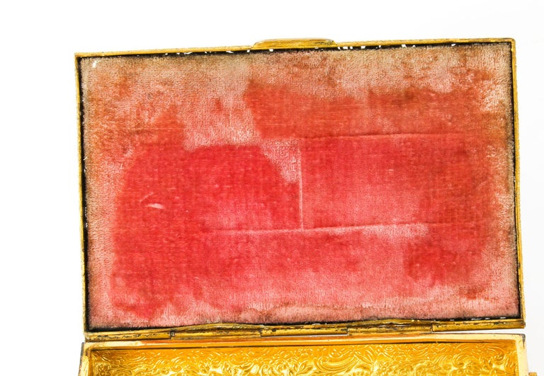Antique French Ormolu and Mother of Pearl Casket, 19th Century For Sale 1