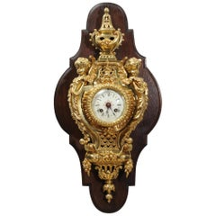 Antique French Ormolu Cartel Wall Clock by Maison Baguès, Paris