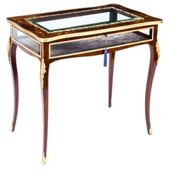 Antique French Ormolu Mounted Bijouterie Display Table, 19th Century