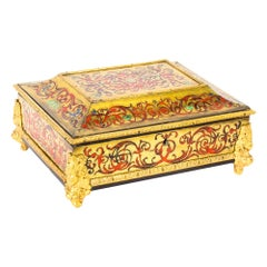 Antique French Ormolu Mounted Boulle Jewelry Casket, 19th Century