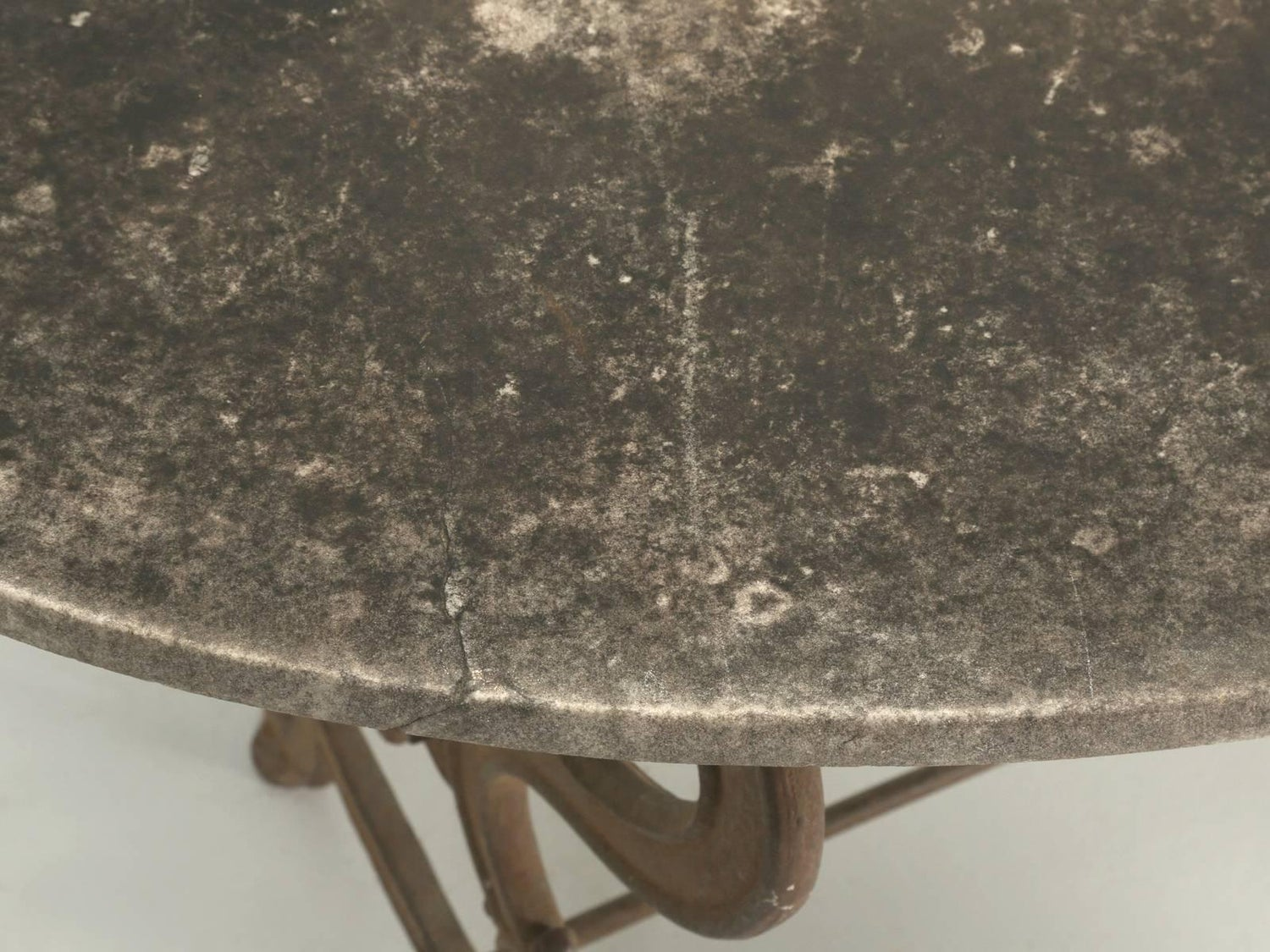 Antique French Outdoor Garden Table with a Marble Top at 1stdibs