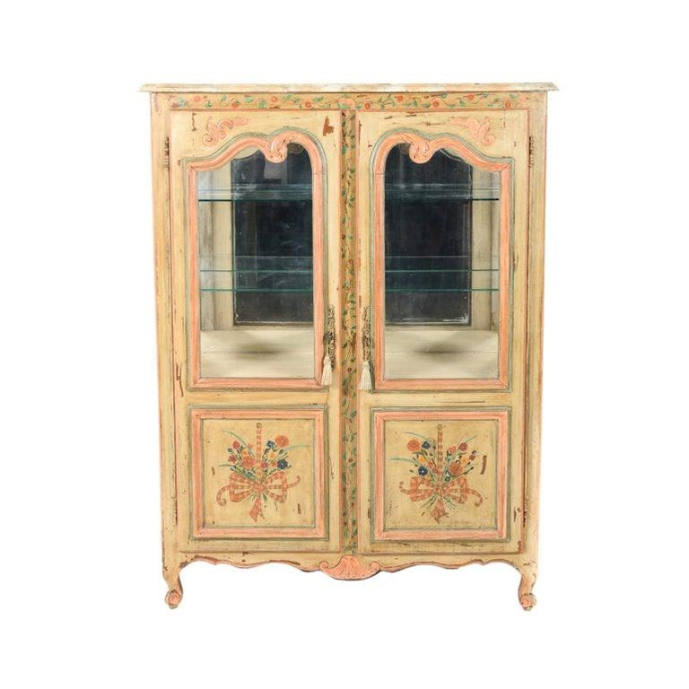 20th Century Antique French Painted Cabinet, Circa 1900 For Sale