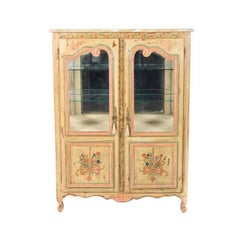 Antique French Painted Cabinet, Circa 1900