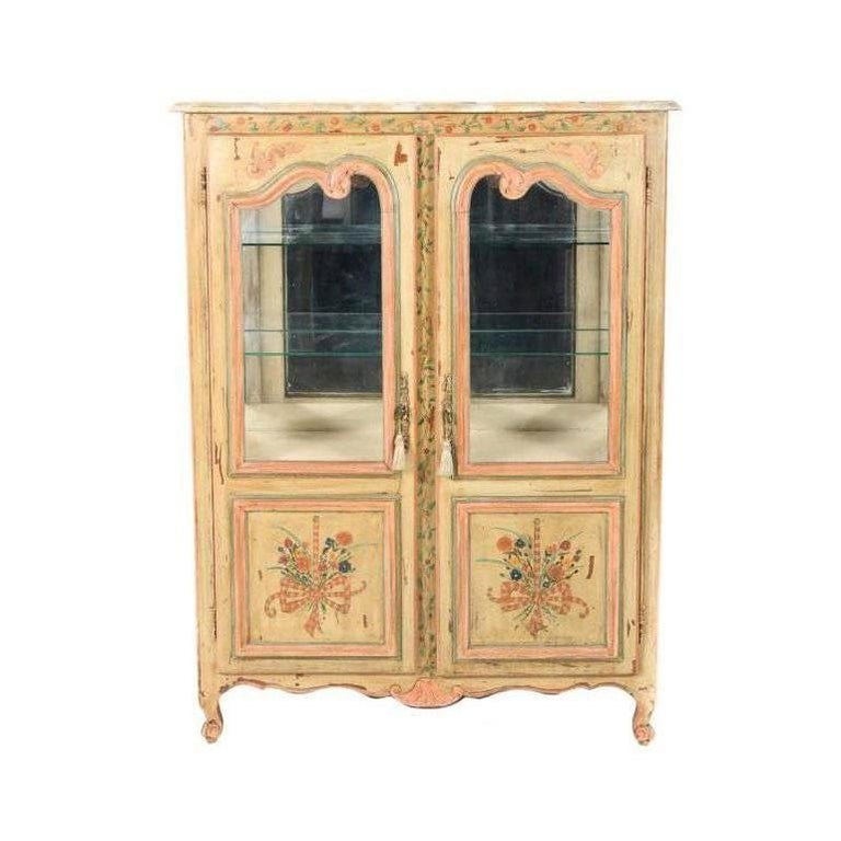 Antique French Painted Cabinet, Circa 1900 For Sale