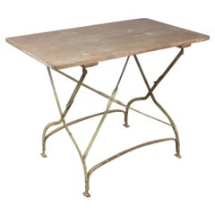 Antique French Painted Folding Table