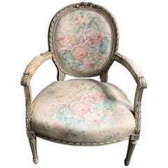 Antique French Painted Louis XVI Armchair