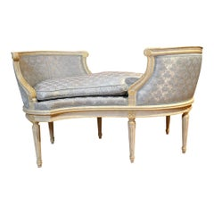 Antique French Painted Loveseat
