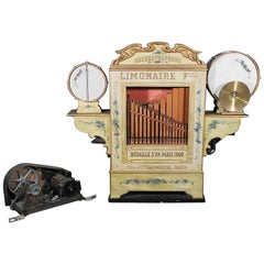 Antique French Painted Musical Limonaire Orchestrophone Like Wurlitzer