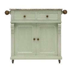 Antique French Painted Pastry Cabinet