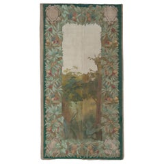 Antique French Painted Tapestry
