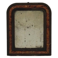 Antique French Painted Wall Mirror, 19th Century