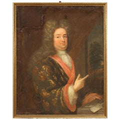 Antique French Painting Portrait of a Gentleman from the 18th Century