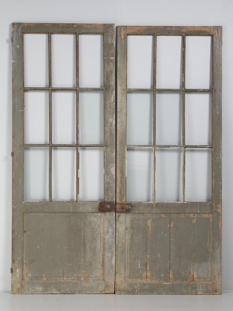 "Antique pair of ""original as found"" French doors that were part of a large - Antique French Pair Of Doors, Circa 1800s At 1stdibs"
