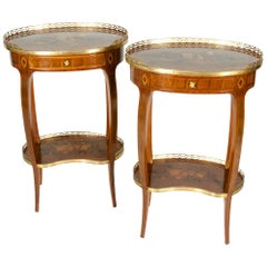Antique French Pair of Louis XV Style Side Tables