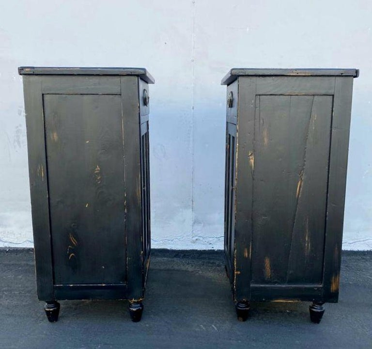 Antique French Pair of Night Stands For Sale 1