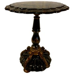 Antique French Papier Maché Table From Old New Orleans Home, circa 1850-1860
