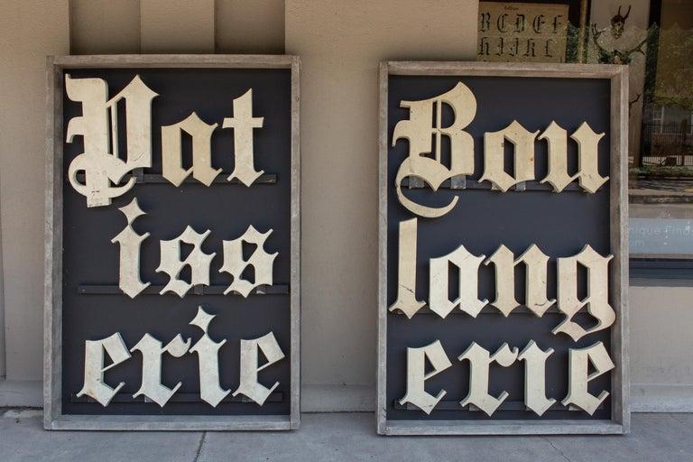 Antique French Patisserie Letters Parisian Shop Sign Art For Sale 7