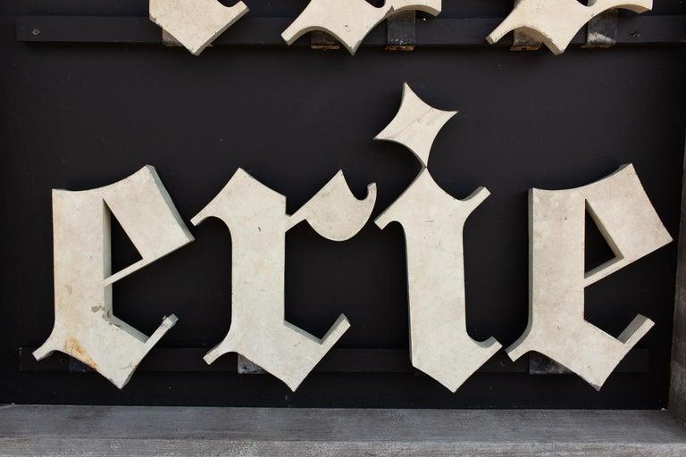 Antique French Patisserie Letters Parisian Shop Sign Art For Sale 1