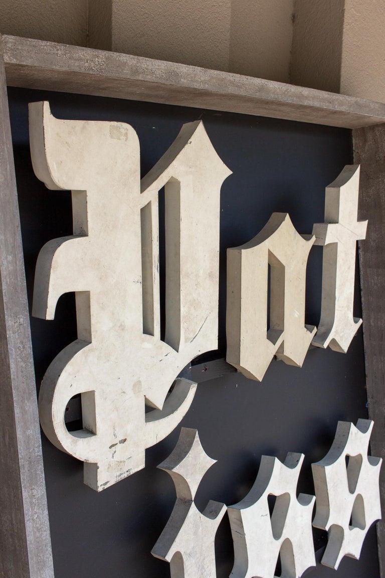Antique French Patisserie Letters Parisian Shop Sign Art For Sale 3