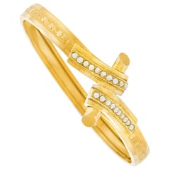 Antique French Pearl Set Gold Bracelet
