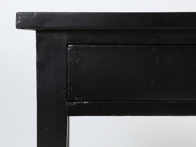Antique French Petite Ebonized Ladies Writing Table, or Small Side Table or Desk For Sale 9