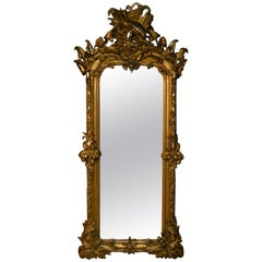 Antique French Pier Gold Leaf Mirror