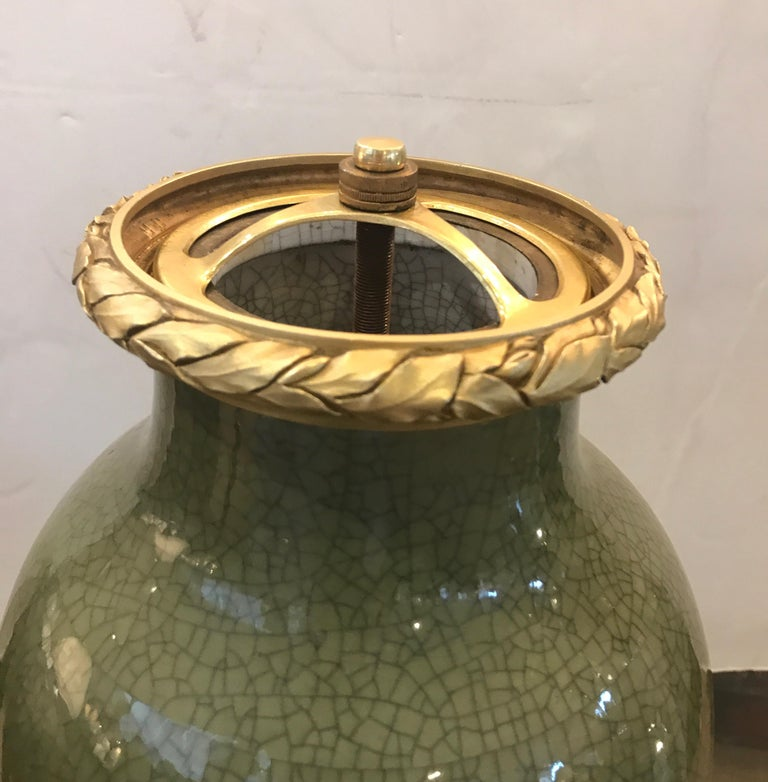 Antique French Porcelain and Ormolu Mounted Large Covered Urn For Sale 7
