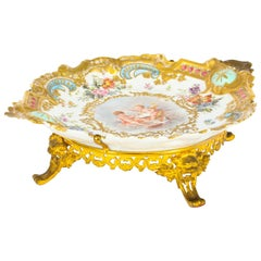 Antique French Porcelain & Ormolu Mounted Centerpiece, Mid-19th Century