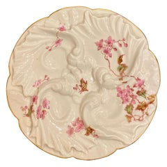 French Porcelain Oyster Plate, Charles Fields Haviland Limoges, circa 1900