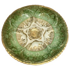 Antique French Porcelain Oyster Plate Made for Bailey Banks & Biddle, circa 1890
