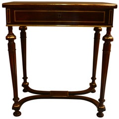 Antique French Poudreuse Vanity table with Gold Bronze Detail, circa 1860-1870
