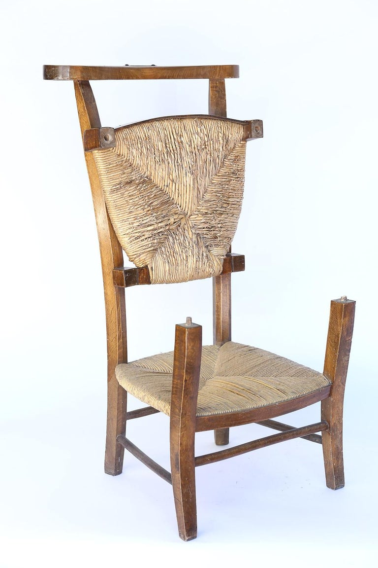 Antique French Prie Dieu, Prayer Chair In Good Condition For Sale In Houston, TX