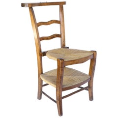 Antique French Prie Dieu, Prayer Chair
