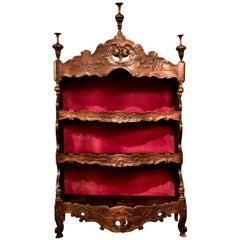 Antique French Provincial Carved Oak Shelves, circa 1860-1880
