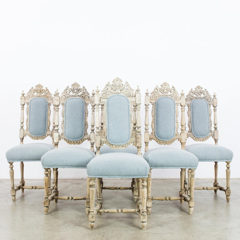 Antique French Provincial Dining Chairs, Set of Six For Sale 5